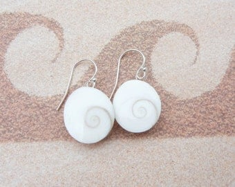 Shiva Eye Seashell Earrings