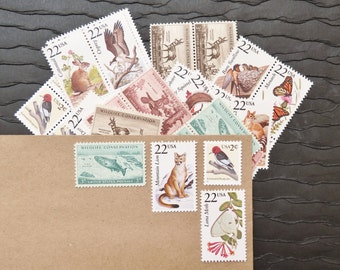 Wildlife II .. UNused Vintage Postage Stamps  .. post 5 letters