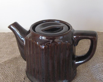 Ribbed Single Cup Brown Betty - Tea Pot