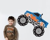 Monster Truck Wall Decal Custom Personalized Kids Name