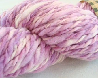 CLEARANCE SALE Hand Spun Merino Wool Mixed Lavender 2 Ply Art Yarn 86 Gm.