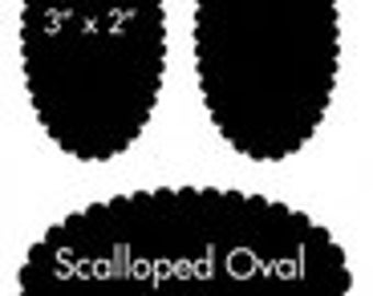 Reusable Chalkboard Labels Scallop Oval 10 Stickers