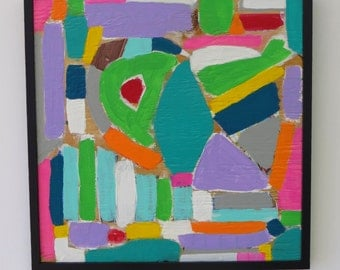 "Modern Abstract Mixed Media ""The Neighborhood"""