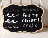 Chalk Ink Chalk Marker 1.0 Fine Tip, Chalk ink Chalk Marker 6mm chisel tip, Chalk Pencil, Box of White Chalk