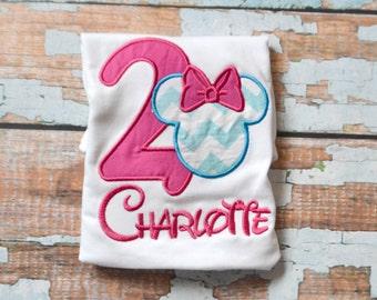 Minnie Mouse Birthday Shirt, Girls Birthday Shirt, Pink Minnie Mouse Birthday Shirt