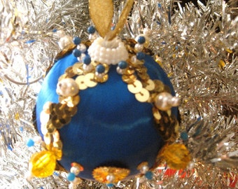 Jeweled Beaded Handmade Christmas Ornament