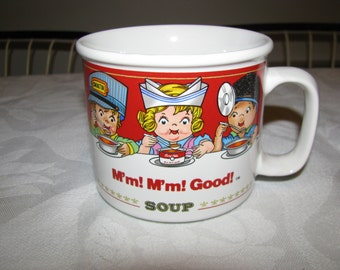 Campbell's 1993  Soup Mug/Bowl/Cup With Handle Collectible M'm.M'm, Good.