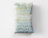 Metallic Gold Dot Lavender Sachets, Organic Fragrance for Modern Bedroom Decor, Ice Blue