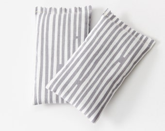 Grey and White Striped Balsam Sachets, Fir Scent Drawer Freshener, Modern Home Decor, Natural Gift