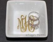 Monogrammed Jewelry/Ring Dish