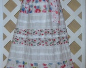 Girls 6-7 Special Occasion Party Pink Floral Boutique Pillowcase Dress