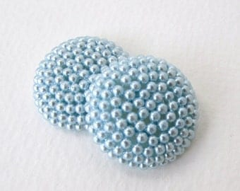 Vintage Cabochon Blue Pearl Seed Bead Acrylic Finding 26mm pcb0293 (4)