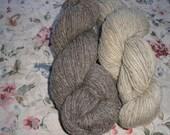 2 Skeins of Bartlett Yarns in Natural  Shades