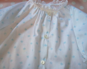 Cotton Lawn Heirloom Daygown with French lace