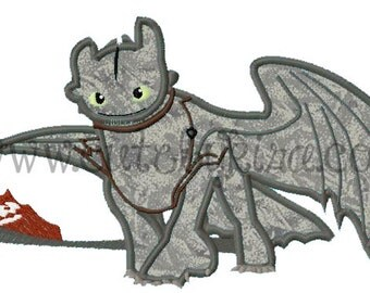 Training Dragon Applique Embroidery Design