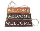 Rustic Welcome Sign - Home Decor - Wood