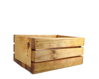 Wood Crate for Home Decor, Garden, Wedding Centerpiece or Product Display
