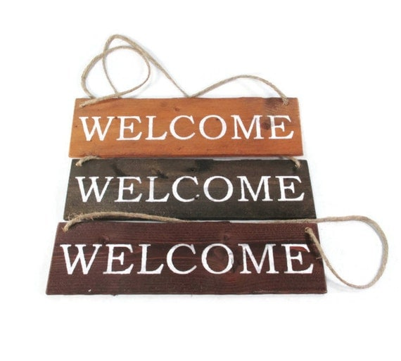 Rustic welcome sign home decor wood for Welcome home decorations