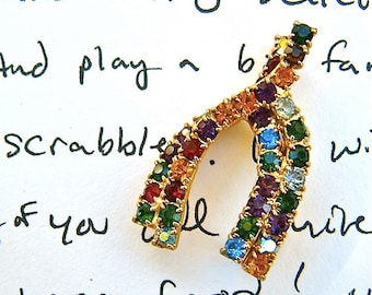 LuCKY WiSHBoNe ViNTaGe CoSTuMe PIN . GooD LuCK Never Looked So Good