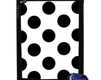 Black and White Polka Dot iPad Smart Case, Cover