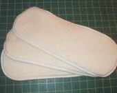 3  Organic Hemp fleece/Zorb inserts