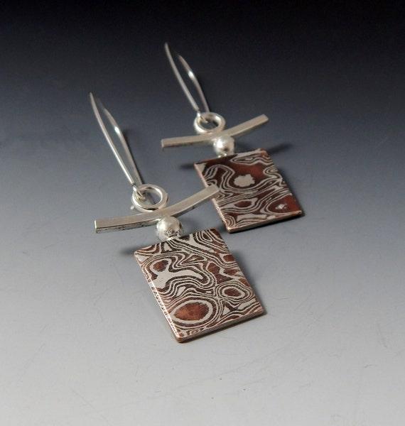 Mokume Gane Earrings: Mokume Gane Earrings By JewelrybyFrancine On Etsy