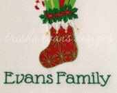 Personalized Embroidered Christmas Stocking Hand Towel - FREE First Class Postage