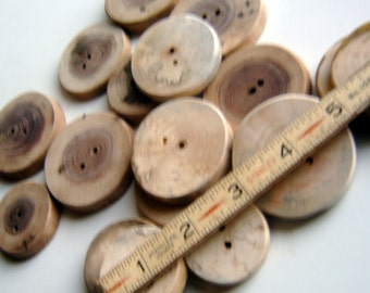 Wooden Button Assotment 100 buttons 1.5 to 2 inch