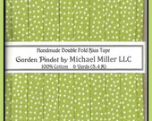 "Double Fold True Bias Tape - ""Apple"" Garden Pindots from Michael Miller - 6 Yards"