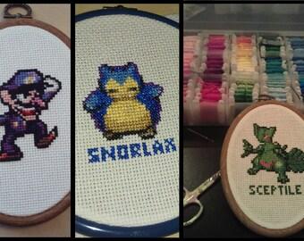 Custom Game Sprite Cross Stitch