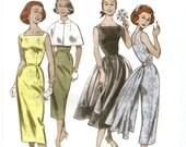 Womens Dress Pattern 1952 Retro Uncut Butterick B5032 Size 6 to 12