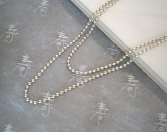 """Sterling Silver Chain, Delicate Chain, Layering Necklace, , 16"""" 1.5 mm Ball Chain, Layer Jewelry"""