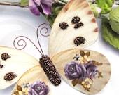 Butterfly Embellishments Purple Rose