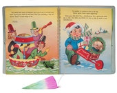 1950s SANTA Visits  MOTHER GOOSE Pop-Up Book/Greeting Card - With Box.