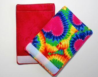 Luggage Handle Wraps set of two reversible Tie Dye Love  travel gift teacher gift Quiltsy Handmade