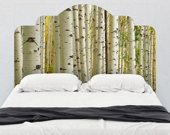 Birch Forest Adhesive Headboard Wall Decal