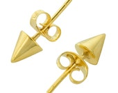 Tiny Spike Studs in Gold