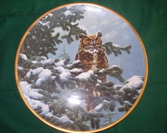 NOBLE OWLS of america plate