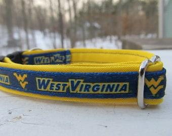 West Virginia University Cat or Small Dog Collar