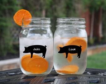 Pig Chalkboard Drink Labels