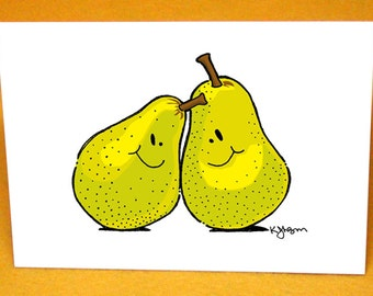 Couple of Pears Blank Greeting Card w/ Astro Bright Envelope