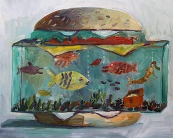 Aquarium burger