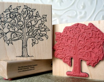 First Love tree rubber stamp from oldislandstamps