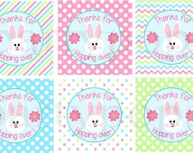 Bunny Party, Thank You, Favor Tag, Bunny Birthday, Bunny Printable, 1st Birthday, Decoration, Spring Party, Easter,  INSTANT DOWNLOAD
