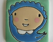 2.5 Square Baby in Blue No.9