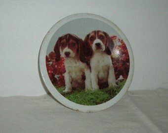 Vintage Childs Play Tin Puppy Plate