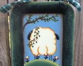 Sheep Hand Painted Mini Tray Wall Hanging