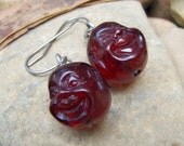 Laughing Buddha Hotei Resin Stainless Steel Earrings