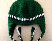 St. Patricks Day  Cotton Newborn Baby Child Boy or Girl Beanie, Earflap, Green, Navy Stripes, Baby Gifts, Showers, Newborn gifts, JE291FKID