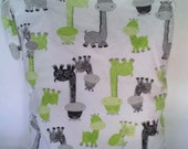 Giraffe Wet Bag, waterproof washable wetbag, you pick size, wet bags for cloth diapers, swimsuits